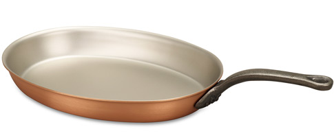falk culinair classical 30cm oval copper frying pan