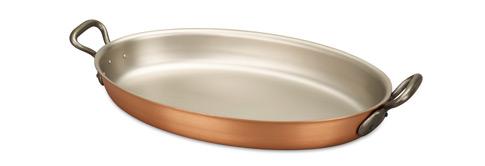 falk culinair classical 40cm x 26cm oval copper au gratin pan