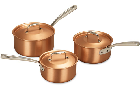 Falk Copper Sauce Pan Set