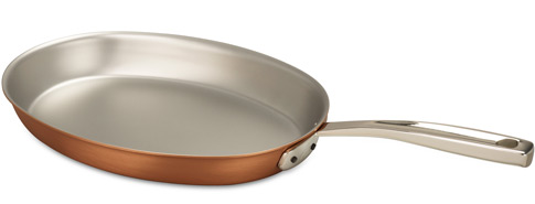 falk culinair 30cm oval copper frying pan