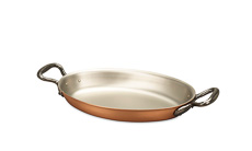 Classical Range 25 x 17cm Oval Copper Au Gratin Pan