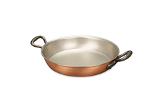Classical Range 24cm Round Copper Au Gratin Pan