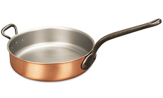 Classical Range 28cm Copper Saute Pan with Helper Handle
