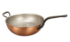 Classical Range 28cm Copper Wok with Helper Handle & Steamer Insert