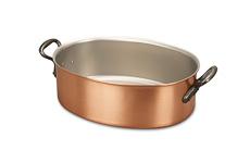 Classical Range 30cm x 20cm Oval Copper Casserole