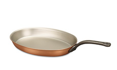 Classical Range 30 x 20cm Oval Copper Frying Pan
