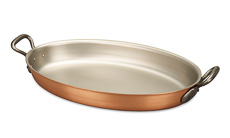 Classical Range 40 x 26cm Oval Copper Au Gratin Pan