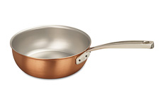 Signature Range 24cm Copper Saucier Pan