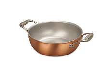 Signature Range 24cm Copper Stew Pan
