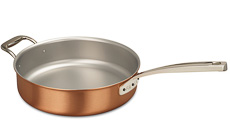 Signature Range 28cm Copper Saute Pan with Helper Handle