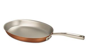 Signature Range 30 x 20cm Oval Copper Frying Pan