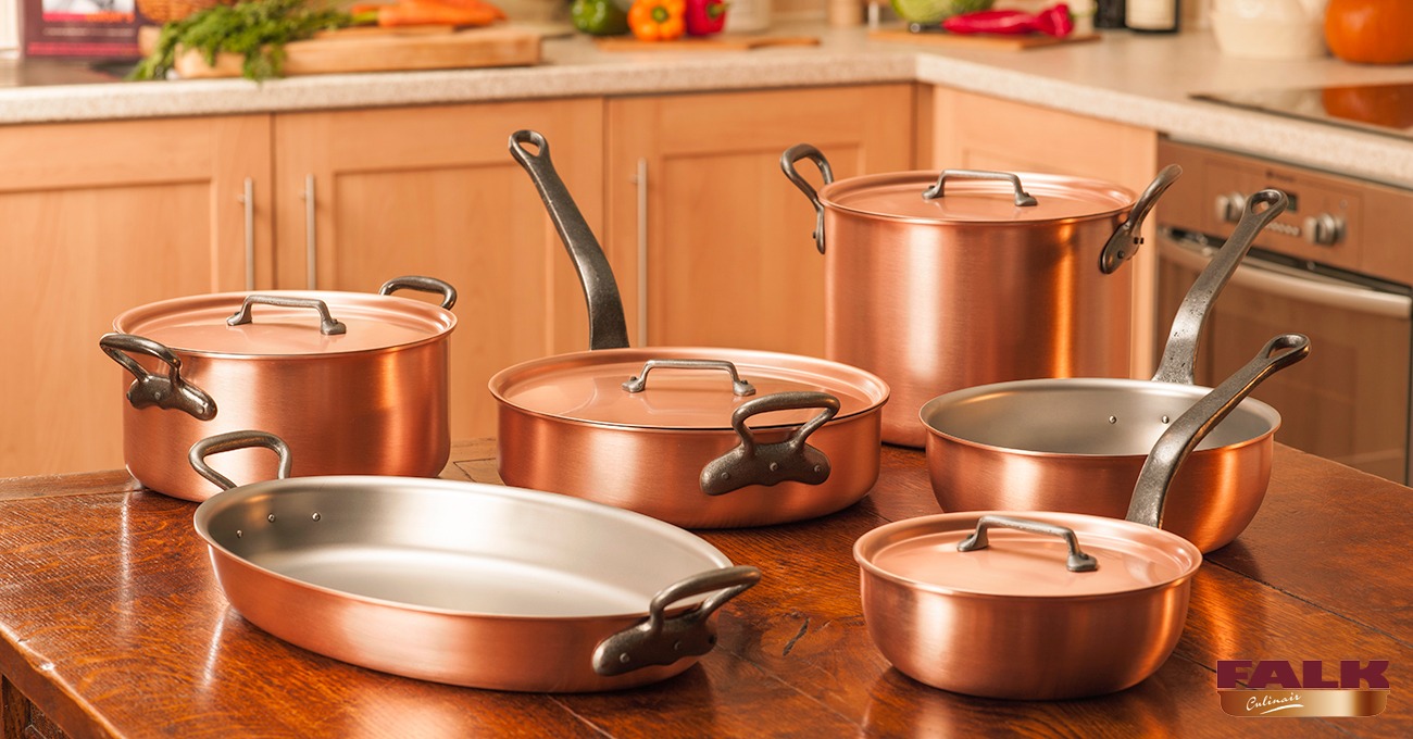 Falk Classical Range Chef's Set - Falk Copper Cookware