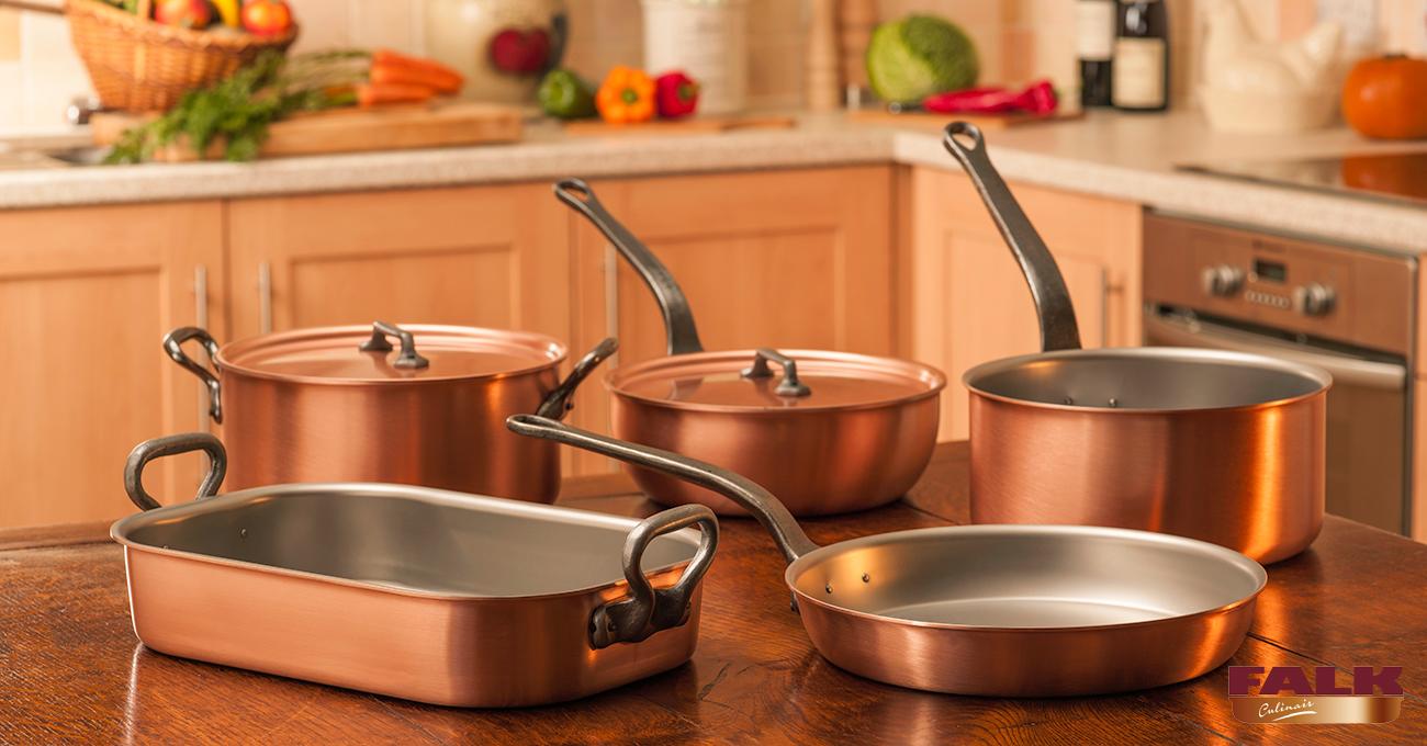 Falk Classical Range Gourmet Set Falk Copper Cookware