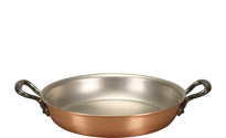 Falk 24cm Round Copper Au Gratin Pan