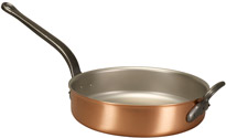 Falk 28cm Copper Saute Pan with Helper Handle