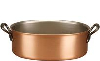 30cm x 20cm Oval Copper Casserole