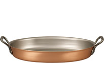 40 x 26cm Oval Copper Au Gratin Pan