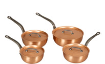Falk Copper Saucier Set